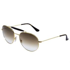 75472eac1af9c 51 Dourado Marrom Novo Original De Sol Ray Ban Rb3483 001 - Óculos ...