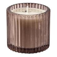 Vela Perfumada Aromática Decorativa Copo Vidro Canelado Fumê