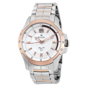 Relógio Bulova Marine Star 98b129 Masc Aço Inoxidável 42mm