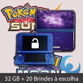 Nintendo New 3ds Xl Galaxy 32gb + 20 Brindes Pronta Entrega