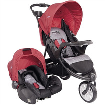 Travel System Carrinho De Bebê + Bebê Conforto Fox Cinza E V