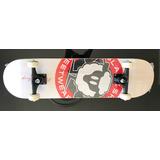 Skate Completo Semi Profissional Logo Branco 7.88