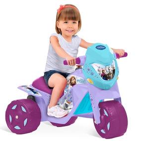 Moto Infantil Elétrica Bateria 6v Frozen Menina Bandeirante