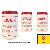 3 X Pote De Vaselina Solida Em Pasta Industrial 440g Moria
