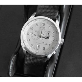 Reloj Oris 7513 Caratula Blanca Automatico Con Estuche