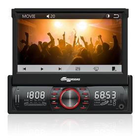 Som Automotivo Quatro Rodas Retrátil 7 Touchscreen, Blueto