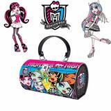 Carteira Bolsa Estojo Monster High Metálica Infantil Escolar