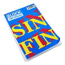 Block A5 De 180 Hojas Lisas Pegadas Sin Fin 13x20cm