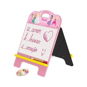 Lousa Com Cavalete 2 Em 1 Princesas Infantil Completo Mural