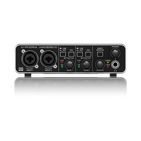Interface Audio Placa Usb Behringer Uphoria Umc202hd Umc 202