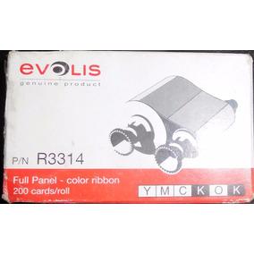Cinta Evolis R3314 Ymckok Color De 200 Impresiones Original