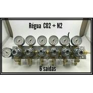 Regulador De Pressão Mistura Co2 + Nitrogênio Chopp 6 Saídas