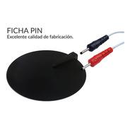 Electrodo De Goma Para Electroestimulador Ficha Pin 10cm