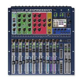 Mesa De Som Digital Si Expression 1 Soundcraft 16 Canais