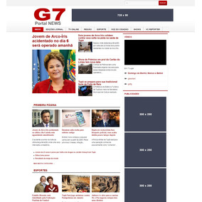 Portal De Notícias Clone G1 (globo.com) Script Responsivo