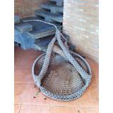 Cadeira Balanço Corda Grande Antiga