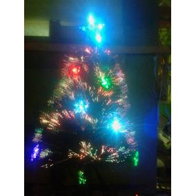 Arvore Natal Fibra Otica E Estrelas Led Efeito Rgb 90cm Bivo