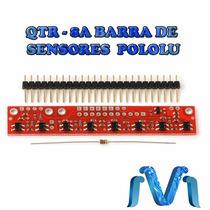 Qtr-8a Barra De Sensores Seguidor De Linea Pololu Original