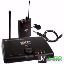 Microfono Inalambrico Skp Uhf Mini Iii Microfono Corbatero