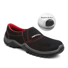 Sapato Segurança Microfibra Estival Energy Bico De Aço Preto