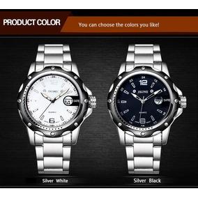 Reloj Skone Fecha Metálico Japan Movt Acero Inox