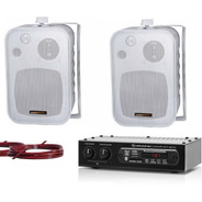 Som Ambiente Bluetooth C / Receiver + 2 Caixas Hayonik