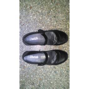 Zapato Escolar Negro Talla 37 Usado En Buenas Condición