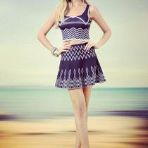 Blusa + Saia Cropped Estampa Etnica Blogueira Moda Lindo