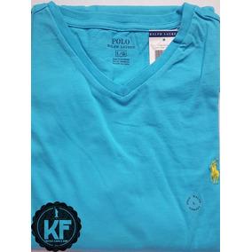 Camiseta Básica Gola V Ralph Lauren Original