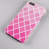 Capinha Case Celular Iphone Textura Gradiente Rosa Geral 005