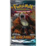 1 X Pokemon Heart Gold Soul Silver Unleashed Booster Pack