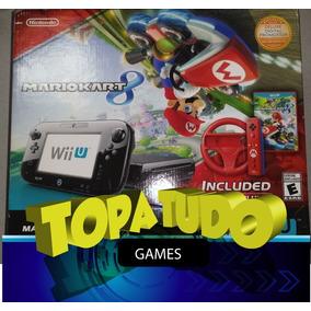 Nintendo Wii U Deluxe Mario Kart 8 Bundle + Jogo + Controle