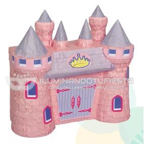 Piñata Castillo De Princesa Cotillón Cumpleaños Infantiles