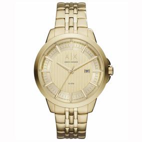 Reloj Ax Ax2267 Dorado 100% Original Para Caballero Wr 100 M