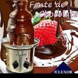Fonte De Chocolate Luxor Inox Orig. Grande 3 Torres Cascata