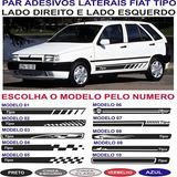 Acessorios Fiat Tipo Faixa Lateral Adesivos Par Sport
