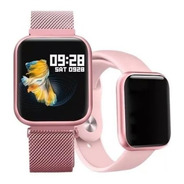 Relogio Smart Watch App T Fit / P70 C/ 2 Pulseiras-rose Top