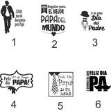 Vinilo Vidriera Dia Del Padre Madreploteo Sticker