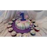 Tortas Decoradas Y 12 Cupcakes Infantiles Y Adultos