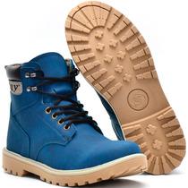 Sapato Botina Casual Masculino Flexivel Leve Lançamento