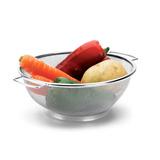 Fruteira Cesto P/ Lavar Frutas E Verduras Aço Inox Hércules