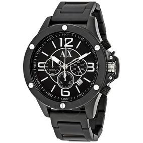 Reloj Armani Exchange Ax1503 48mm Acero Negro Envio Gratis