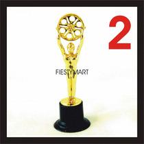 2 Oscares Premio Fiesta Boda Dj Xv Estatua Convencion Oscar