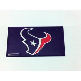 Adesivo Resinado Houston Texas Nfl 9 Cm Por 5 Cm