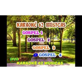1 Dvd Karaokê Gospel Evangélico 62 Musicas Hino Coletânea Cd