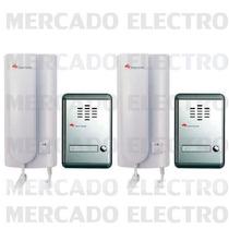 Portero Electrico Hyundai 2 Frentes 2 Citofonos Hdp-200