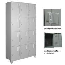 Armário Roupeiro De Aço Vestiário Academia 12 Portas Locker
