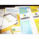 Cartulina Para Tarjetas De Presentacion Papel Fino Kimberly