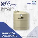 Tanque Tricapa Waterplast 5000lts Con Flotante