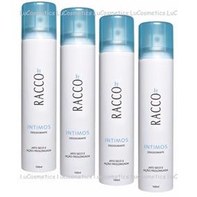 Kit C/4 Desodorante Jato Seco Íntimo Feminino Racco - 100 Ml